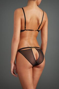 #shopping #fashion #open #brief #ouvert #sheer #knickers #french #lingerie #black #style