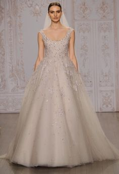 Monique Lhuillier Wedding Dresses Inspired by Ballerinas for Fall 2015 | Photo by: Kurt Wilberding | TheKnot.com