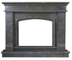 kominek angielski - klasyczny marmurowy portal kominkowy