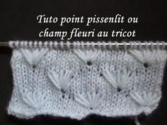 Tricot : Point bulles zig zag très beau point / Dos agujas punto fantasia muy lindo - YouTube