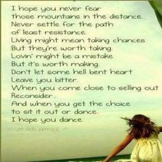 My Momma's song to me from when I was little... I chose to dance Momma! #forever #dance #passion