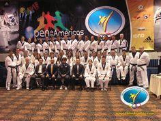 Equipo de arbitraje, nacional e internacional bajo la dirección técnica del maestro Myung Chang Kim, Jefe de arbitraje Unión Panamericana