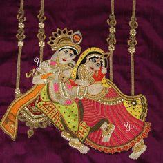 In a Spiritual Spree! Blouse design of Radhe Krishna at YUTI! For Orders and Queries reach us at 044-42179088 or whatsapp:9789903599 Address: 21, Valmiki street, Thiruvanmyur, Chennai 600041. #handembroidery #blouseembroidery #sareeembroidery #embroiderybyyuti #duodresses #yutiforkids #yuti #radhekrishnadesign #blousedesigns #godandgodessdesign #zarsosiwork #yutiformomanddaughter #yutiforbrides #yutiforbridesmaids #YUTIDesignerHouse #dressesbyyuti #chennaidesigner #chennaifashion…
