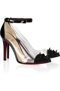 Christian Louboutin|Just Picks 100 studded patent-leather and PVC pumps|NET-A-PORTER.COM