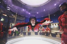 A girl enjoying some indoor skydiving at iFLY Oklahoma City! Image credit: mrbougher