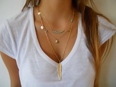 Gold filled double layered necklace by Annikaloveforwraps