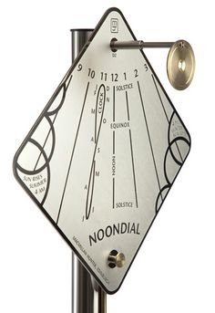 'Noondial' vertical sundial with fascinating detail in a delightfully clean design.
