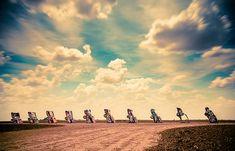 Cadillac Ranch    travel, tourism, long-exposure, southwest, Amarillo, Texas, art, photography, cars, automobiles, desert, beauty, creative
