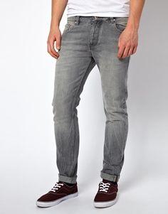 Bild 1 von ASOS – Schmal geschnittene Jeans in Grau