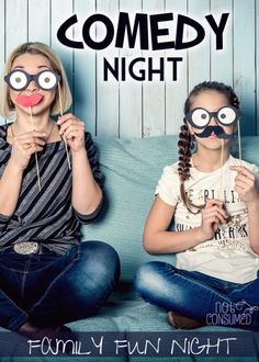 Family Night Fun - Games, Activities, Themed Nights, Glow in the Dark, Campout, Comedy, STEM... the kids will LOVE these!
