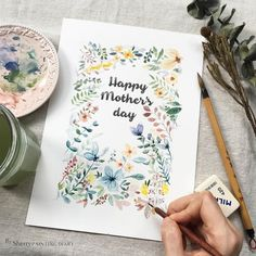 Happy mother's day 母親節快樂 ps.調色小盤子最好找白色的比較不會有偏色問題.....我是不良示範 #watercolor#paint#painting#draw#drawing#sketch#sketchbook#illustration#mothersday#flower#flowers_watercolor#beauty#水彩#winsorandnewton #flowers#taipei#taiwan#art#article#artwork#illustrator#插畫#雪莉畫日誌 by sherry8296