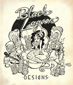 Danielle Mann of Black Lagoon Designs Artwork by Shawn Dickinson underwater tiki mermaid 1930s Cartoons, Vintage Cartoons, Vintage Comics, Rock Roll, Rockabilly Artwork, Game Design, Graffiti, Vintage Tiki, Pin Up