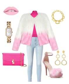 """""""Feeling furry & pink"""" by teneshiacampbell on Polyvore featuring Frame, WithChic, Michael Kors, Dolce&Gabbana, Chanel and Marjana von Berlepsch"""