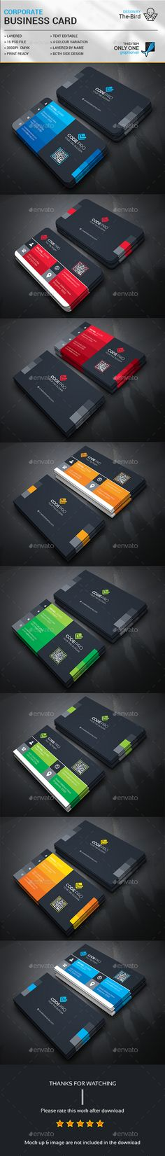 Corporate Business Card Template PSD Bundle. Download here: http://graphicriver.net/item/corporate-business-card-bundle/15471572?ref=ksioks