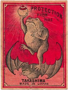 Jumbo size Japanese matchbox label - c.1920
