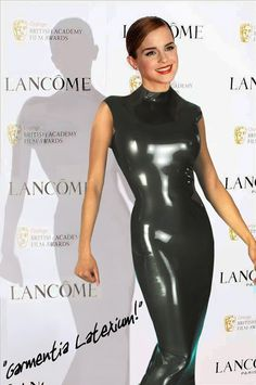 Emma Watson🔴 - Celebrities in Latex and Leather - Models Emma Watson Beautiful, Emma Watson Style, Emma Watson Sexiest, Emma Watson Body, Mode Latex, Rubber Dress, Hobble Skirt, Non Blondes, Actrices Sexy