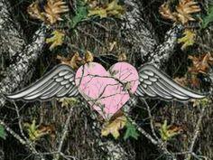 Pink Camo Heart