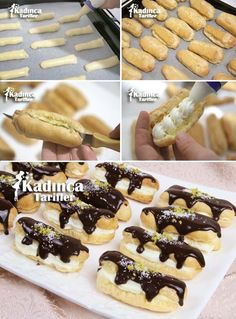 Ekler Pasta Tarifi Kadincatarifler.com - En Nefis Yemek Tarifleri Sitesi - Oktay Usta