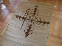 Veve for Legba made from coffee. A veve is a voodoo ground drawing created to honor and call the invisible world. #veve #legba