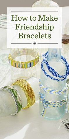 How to Make Friendship Bracelets | Learn how to make a friendship bracelet--the ultimate craft of friendship! Includes 6 friendship bracelet and pin patterns, plus easy how-to instructions.