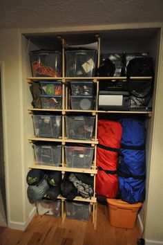 That closet in the basement by the stairs would be a perfect gear closet.