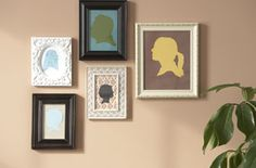 Family silhouettes. #craft