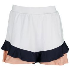 "The Tail Women's Palmetto Dunes Rosalin Tennis Skort White will compliment every move your make on court. This skort features flattering ruffle detail at the hem with touches of color in each layer. The performance jersey fabric includes moisture control for a cool, dry feel and SPF 45  for sun protection. Built-in shorts are included for optimal coverage.Technical Benefits: SPF 45 Fabric: 91% Polyester/ 9% SpandexLength: 13.5""Color: WhiteFor more information or questions regarding apparel…"