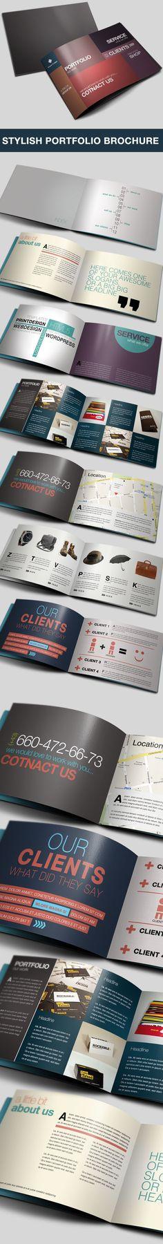 Portfolio Brochure by Danijel Mokic, via Behance