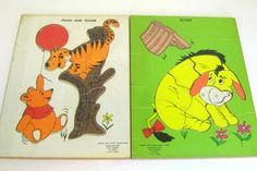 1965 wooden Winnie the Pooh puzzles