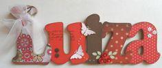 Luiza flores e borboletas nome decorado
