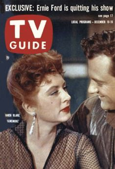 "TV Guide: December 10, 1960 - Amanda Blake and James Arness of ""Gunsmoke"""
