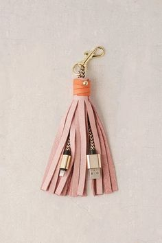 USB Leather Tassel Keychain + Charging Cord - Urban Out