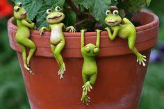 Plantenpot hanger kikkers (set/4) #home #decoration #frog