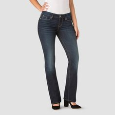 Denizen from Levi's Women's Modern Boot Cut Jeans - Marissa 16 Short, Blue