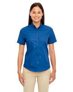 78194 Ash City - Core 365 Ladies' Optimum Short-Sleeve Twill Shirt $23.98