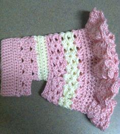 Ravelry: patrón de suéter de perro Más Pequeño Bo Peep ganchillo porción Cobos Closet