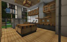 minecraft modern house kitchen Google Search Minecraft interior design Minecraft kitchen ideas Minecraft house designs