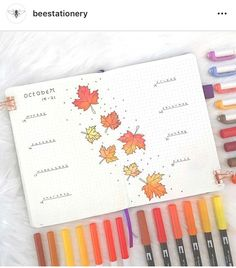 Inspiration for Autumn Bullet Journal pages. If you love bullet journaling, there are tons of amazing fall bullet journal ideas you can use on your cover pages, weekly & monthly spreads and calendar layouts. Bullet Journal Monthly Spread, Bullet Journal 2020, Bullet Journal Aesthetic, Bullet Journal Hacks, Bullet Journal Notebook, Bullet Journal Layout, Bullet Journal Inspiration, Bullet Journal October Theme, Instagram Bullet Journal