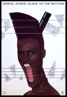 grace jones record, photographed and designed by jean paul goude.