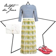 Fashion Foie Gras: Outfit du Jour: Stripes and flowers make for a stylish combination