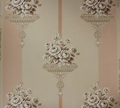 Beautiful Victorian with White Roses Vintage Wallpaper Vintage Wallpaper Patterns, Victorian Wallpaper, Pattern Wallpaper, Bedroom Vintage, Vintage Wall Art, Vintage Walls, Fantasy Bedroom, Romantic Room, Rose Wallpaper