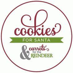 Silhouette Design Store - View Design #52227: cookies for santa plate - vinyl