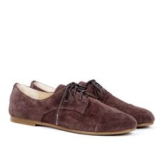 brown, suede oxfords