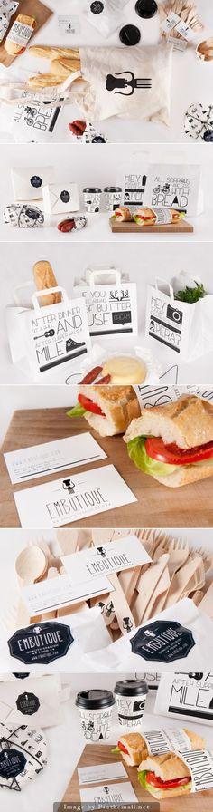 Embutique, great packaging design, sandwich, bread, innovative brand idea: