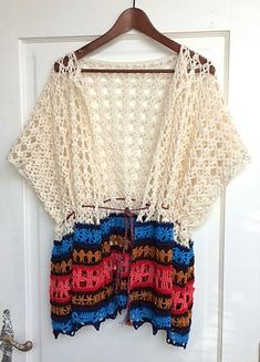 Summer poncho By Tina B. - Purchased Crochet Pattern - (ravelry)