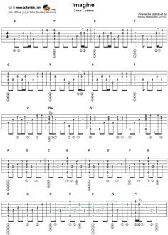 Imagine - Fingerstyle guitar tab