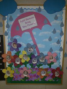 April bulletin board
