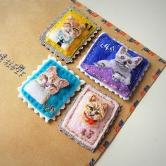 You can own a portrait stamp of your own little cat now and bring it along anywhere!  It's not a paper stamp which require your special preservation b