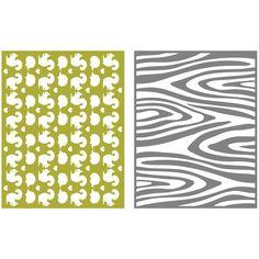 Lifestyle Crafts/QuicKutz Woodland Embossing Folder Set