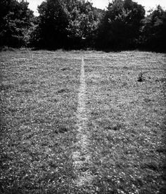 A Line Made By Walking, 1967 by Richard Long © Richard Long. All Rights Reserved, DACS/Artimage Photo: Richard Long Richard Long, Land Art, Art Environnemental, Christo And Jeanne Claude, Andy Goldsworthy, Tate Britain, Environmental Art, Conceptual Art, Art Plastique